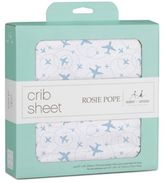 Rosie Pope® and aden + anais®100% Cotton Muslin Airplane Fitted Crib Sheet