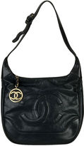One Kings Lane Vintage Chanel Navy Caviar Shoulder Tote