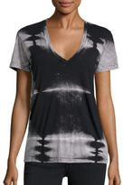 Monrow Aish Tie-Dyed V-Neck T-Shirt