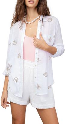 Rails Charli Shell-Print Linen Shirt