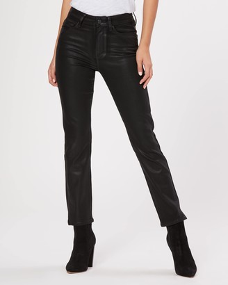 Paige Cindy Outseam Slit-Black Fog Luxe Coating
