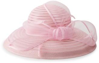 Scala Women's Big Brim Bow Trim Hat