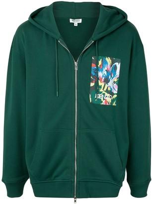Kenzo x Vans floral-print zip-up hoodie