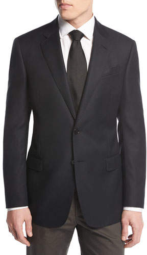 Giorgio Armani Soft Basic Two-Button Sport Coat, Black