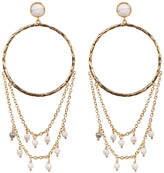 Gorjana Howlite Accent Drape Chain Hoop Earrings