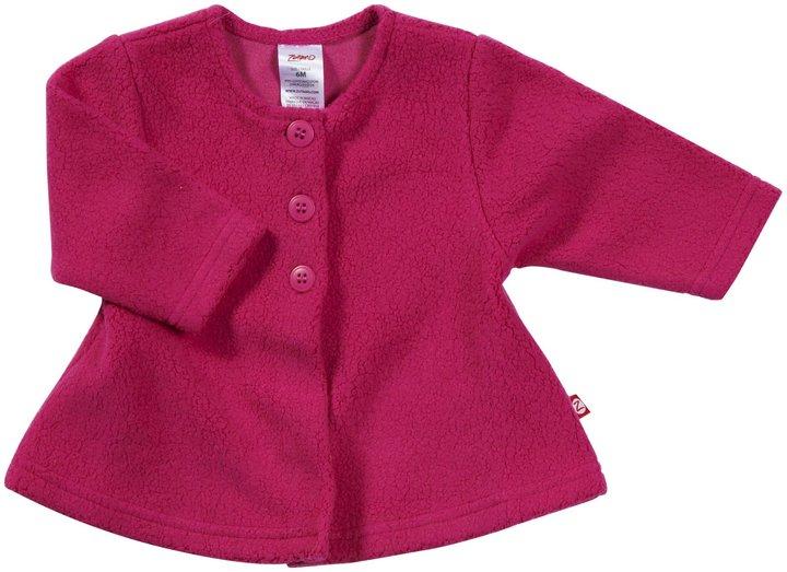 Zutano Cozie Fleece Swing Jacket - Fuchsia- 24 Months