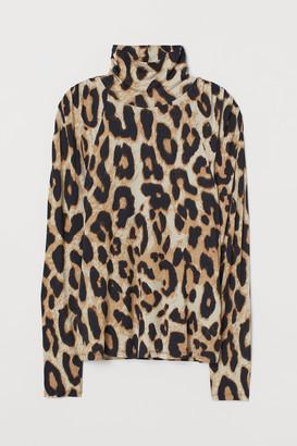 H&M H&M+ Modal-blend polo-neck top