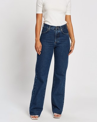 Mng Women's Blue Wide leg - Nora Jeans - Size 34 at The Iconic