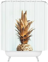 Deny Designs Chelsea Victoria The Gold Pineapple Shower Curtain