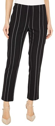 Lisette L Montreal Eliot Stripe Ankle Pants (Black) Women's Casual Pants
