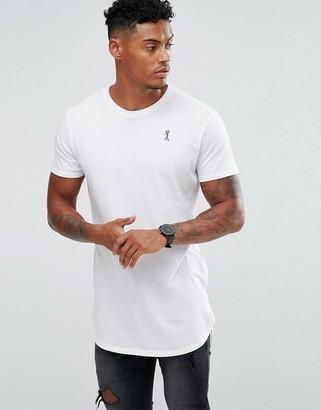 Religion longline logo t-shirt in white