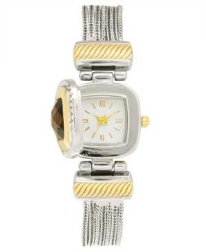 Charter Club Women's Flip Cover Two-Tone Bracelet Watch 25mm, Created for Macy's