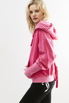 Juicy Couture Velour Lace-Back Hoodie Jacket