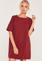 Missguided Burgundy Oversized T-shirt Dress