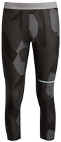The Upside Geo camouflage-print cropped performance leggings