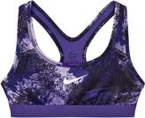 Nike Purple Graphic Print Training Sports Bra