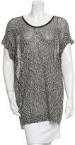 Robert Rodriguez Textured Trim Knit Top