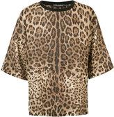 Dolce & Gabbana oversize leopard print T-shirt - men - Linen/Flax - 46