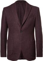 Altea Burgundy Wool, Silk and Cashmere-Blend Bouclé Blazer