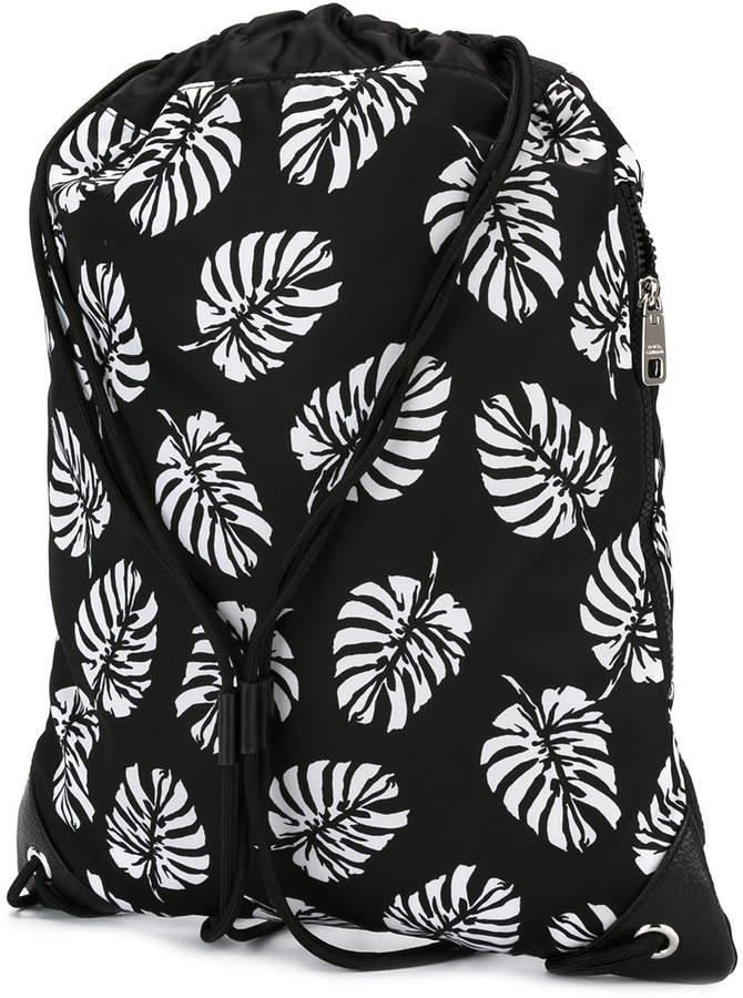 Dolce & Gabbana palm print drawstring backpack
