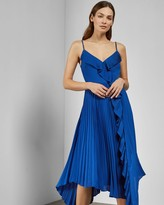 Ted Baker Strappy Pleated V Neck Dress