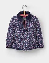 Joules Newdale Print Quilted Jacket 1 6yr in French Navy Winter Ditsy