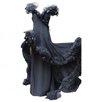 Azzaro Loris Black Silk Dress for Women Vintage