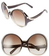 Chloé Women's Mandy Oversized Oval 61Mm Sunglasses - Gradient Grey/ Turtledove