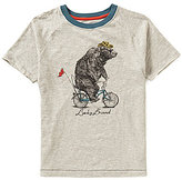 Lucky Brand Big Boys 8-20 Bicycle Bear Ribbed Crew Neck Short Sleeve Tee