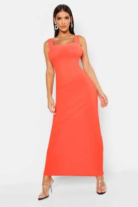 boohoo Square Neck Strappy Maxi Dress
