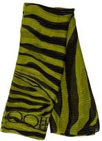 Jimmy Choo Striped Silk Scarf