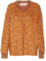 Stella McCartney Leopard-print knitted sweater