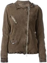 Giorgio Brato distressed zipped jacket