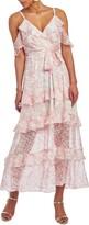 Christian Siriano Cold Shoulder Ruffle Maxi Dress