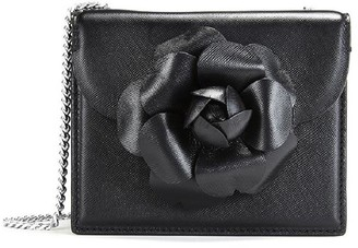 Oscar de la Renta Black Leather Mini Tro Bag