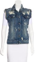 Pierre Balmain Denim Distressed Vest w/ Tags