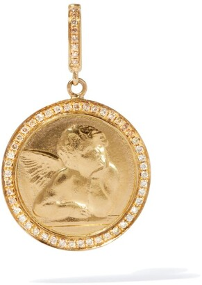 Annoushka Yellow Gold and Brown Diamonds Mythology Cherub Charm