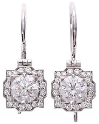 Harry Winston Pt950 Platinum Diamond Belle Earrings