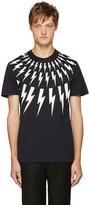 Neil Barrett Navy Thunderbolt T-Shirt