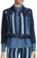 Tommy Hilfiger Stars & Stripes Patchwork Cropped Jacket