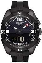 Tissot T0914204705701 T-touch Expert Solar Chronograph Altimeter Rubber Strap Watch, Black