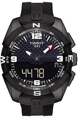 Tissot T0914204705701 Men's T-Touch Expert Solar Chronograph Altimeter Rubber Strap Watch, Black