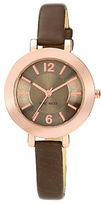 Nine West Ladies Chocolate and Rose Goldtone Watch