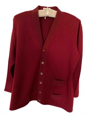 Salvatore Ferragamo Burgundy Wool Knitwear