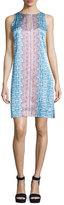 Nanette Lepore Sleeveless Printed Shift Dress, Blue/Multi