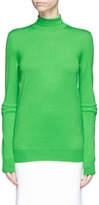 Stella McCartney Quilted sleeve oversized virgin wool turtleneck sweater
