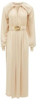 Dodo Bar Or Mika Belted Crepe Dress - Beige
