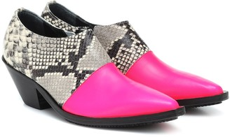 Junya Watanabe Snake-effect leather ankle boots