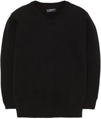 Very 2 Pack V Neck School Jumpers - Black
