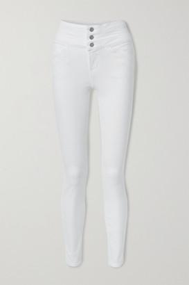 J Brand Annalie High-rise Skinny Jeans - White